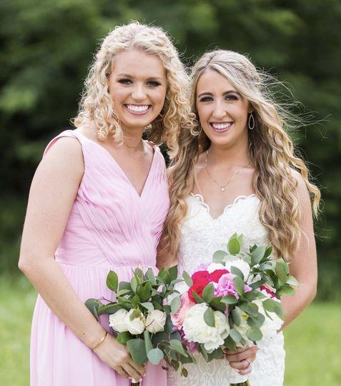 Bridesmaid + Bride Glam