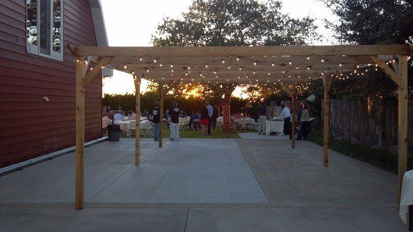 Dance floor before reception at Tierra del Corazon.