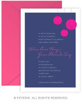 Illumé Wedding Invitation 5x7 Flat Card with Coordinating Color Envelope Available in 6 color...