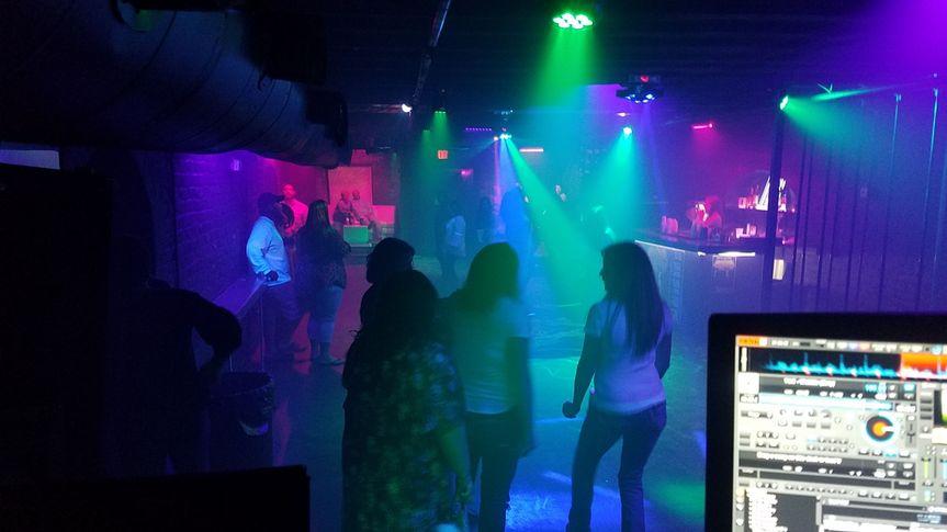 Night club crowd