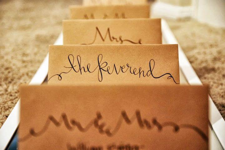 Brown invitations