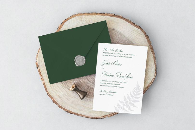 Nature wedding invitation