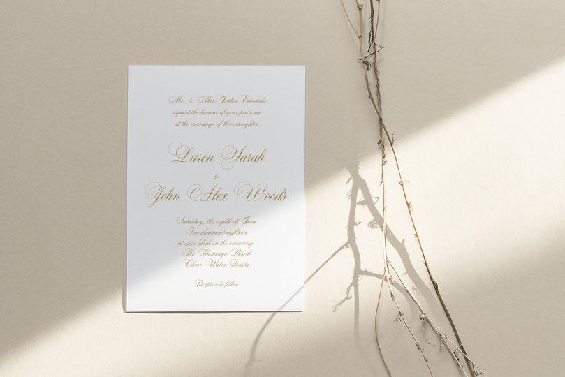 Traditional invitation