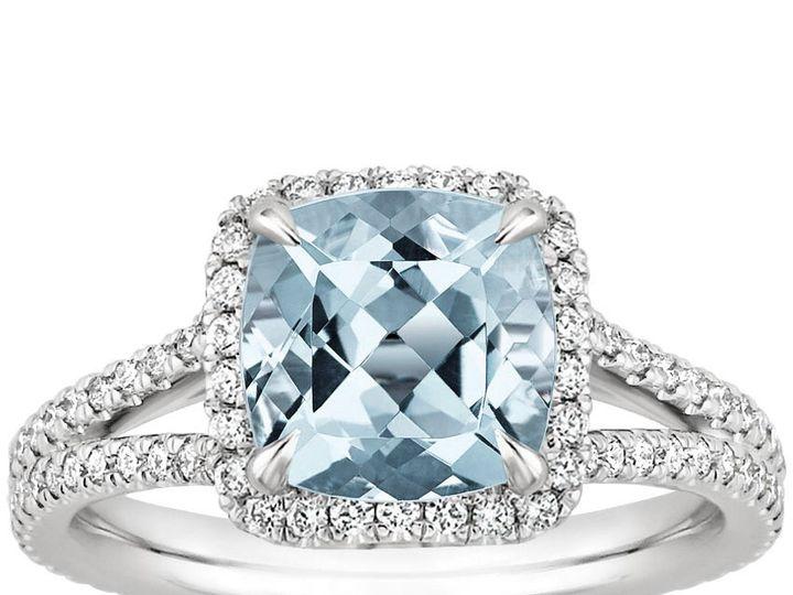 Tmx 1489766721606 Be1m01778mmcushionaquatop Fort Lee wedding jewelry