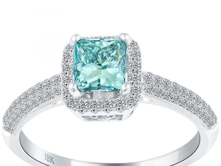 Tmx 1493312958408 Blue Diamond Princess Cut Engagement Ring Fort Lee wedding jewelry