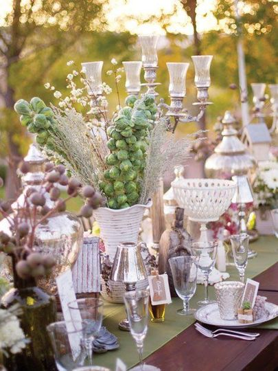 Decorated table setup