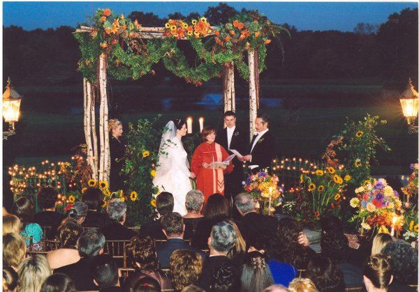 The Park Savoy outdoor ceremony area