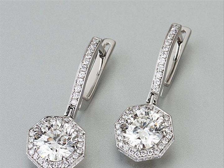 Tmx 1447440915310 Octagonalhalo Earrings Los Angeles wedding jewelry