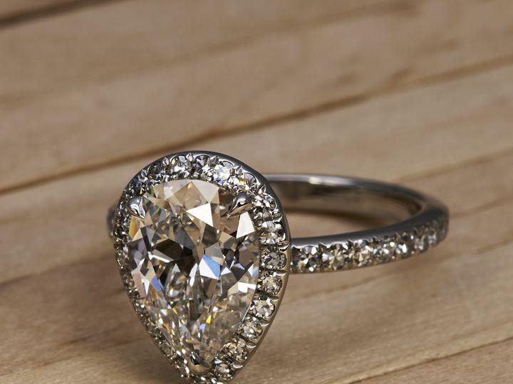 Tmx 1470072863106 Emilya Ring Antique Pear Shape Diamond Victorcaner Los Angeles wedding jewelry