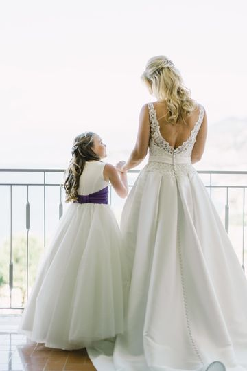 With the flower girl