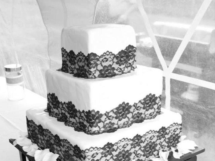 Tmx 1407345092197 Black And White Misty Belt, MT wedding cake