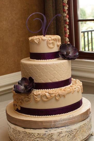 Purple and ivory cake