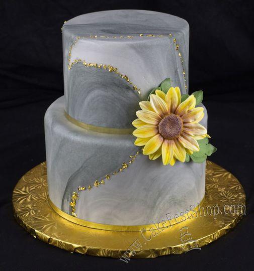 Modern granite cake