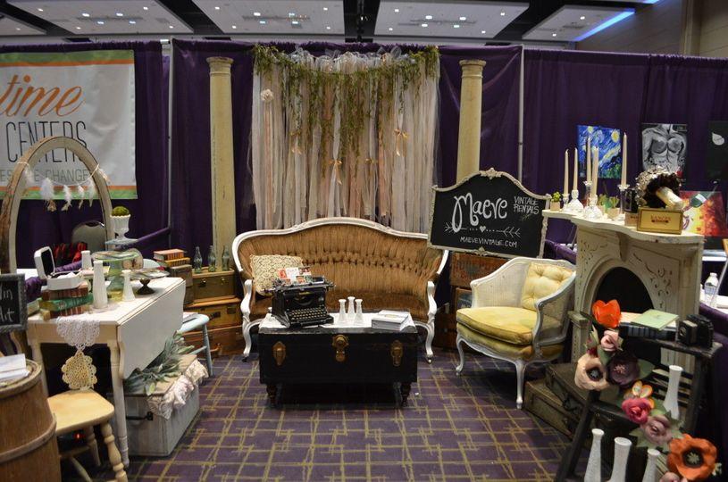 extravaganza bridal show booth maeve vintage