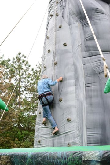 Reach for the sky and entertain your guests with an inflatable rock climbing wall. The possiblities...
