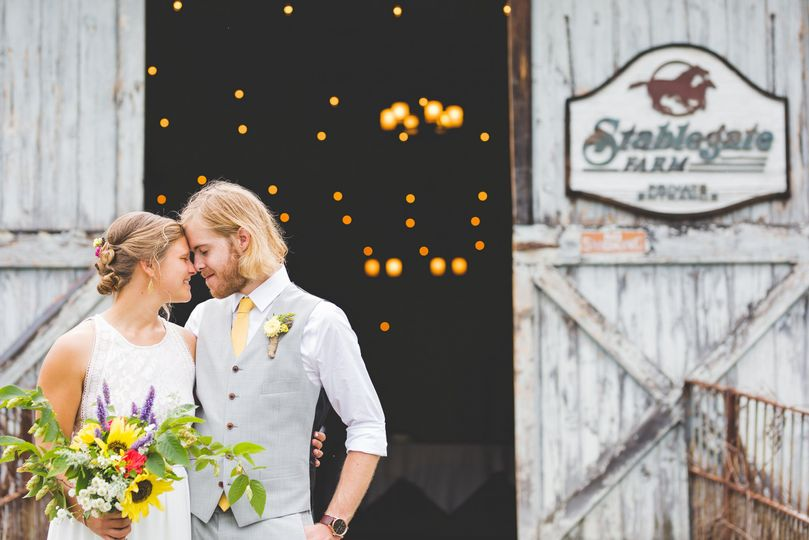 The Stablegate Barn providing space for up to 120 guests. This  Dutch barn built in 1847 has 30-foot...