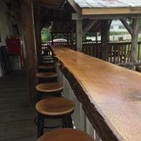 Bar counter and stools