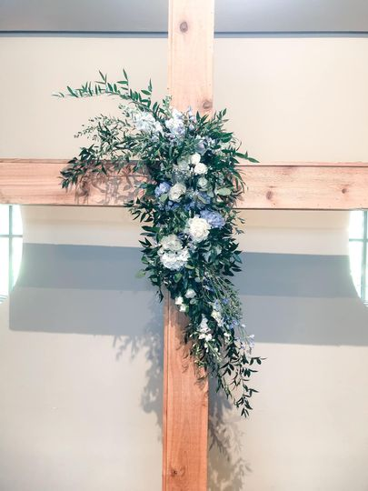 Blue and White Cross
