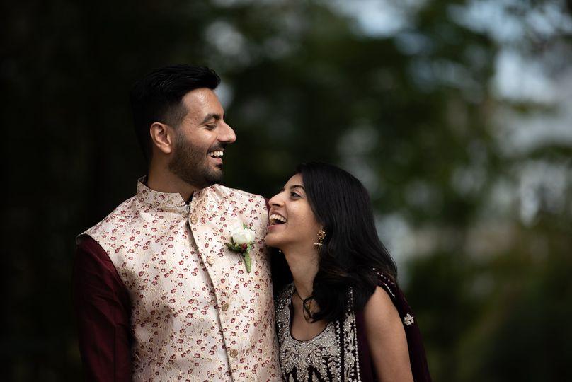 Couple having a laugh