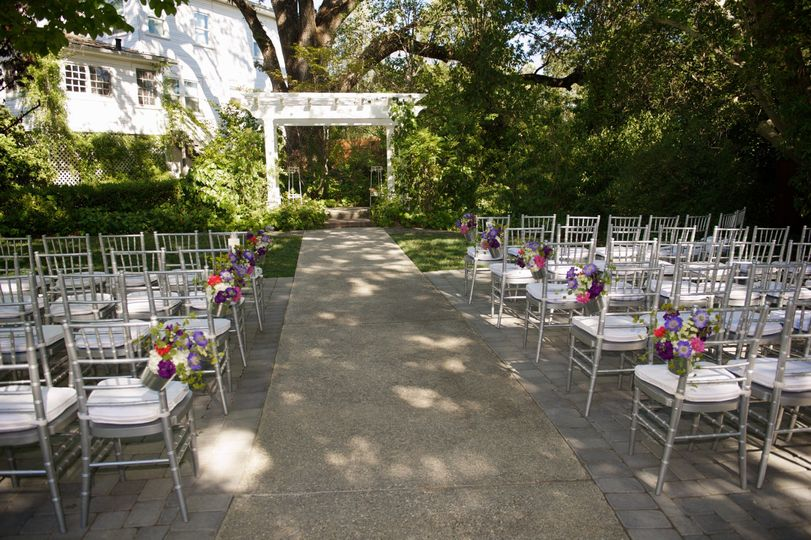 The ceremony gardens await its guests!