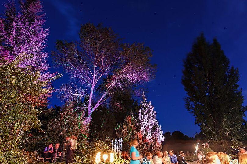 gardens lit at night siegels