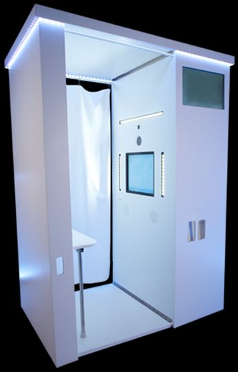 The classy look of an Event Booth Rentals photo booth.