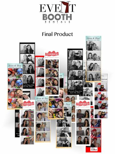 Customize the photo strips specifically for your event.