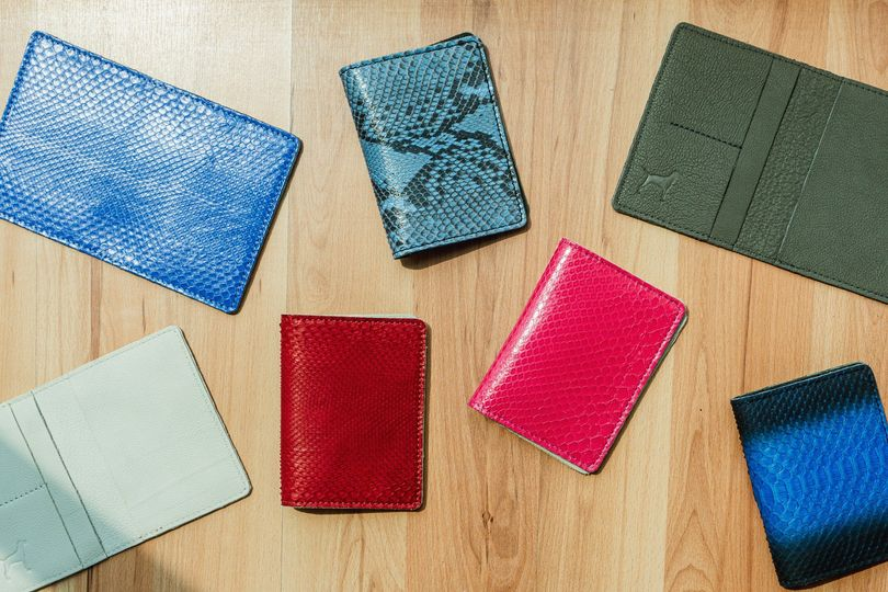 Colorful leather passport holders