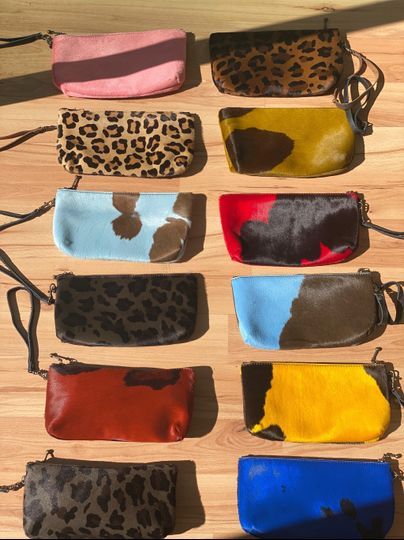 Leather clutch accessories