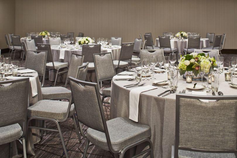 Grey table setting