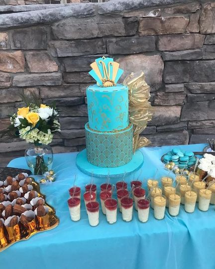 Art Deco cake and desserts
