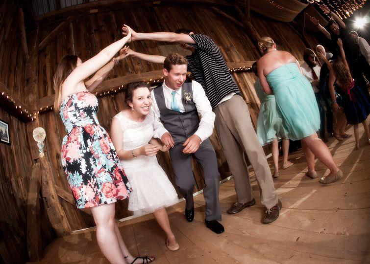 Irish set dancing with caller