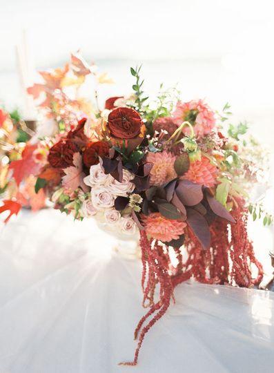 Autumn beach florals