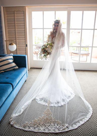 Bride at La Valencia Hotel