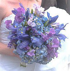 Blue and purple bouquet