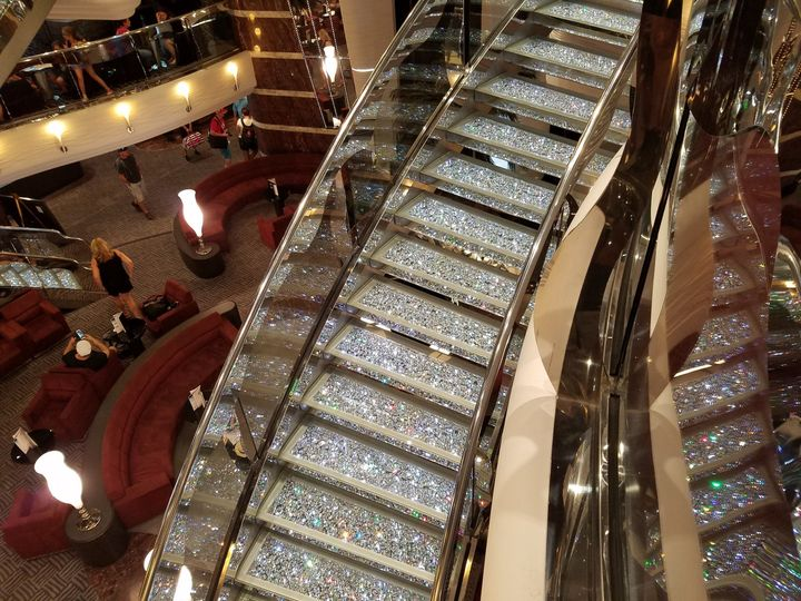 Can you imagine getting married on this staircase made of Swarovski crystal aboard the MSC Devina?