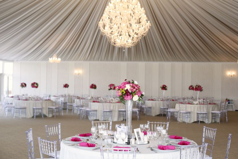 Raised floral centerpieces