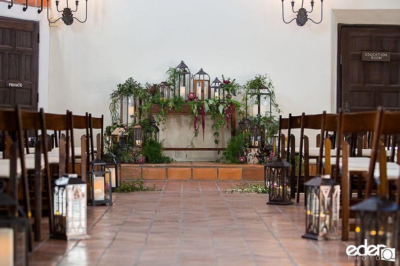 Romantic museum ceremony