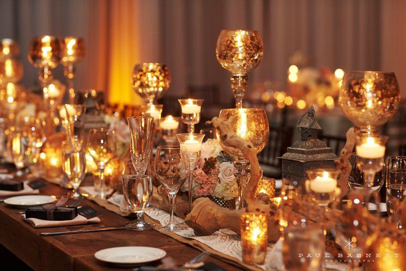Mercury gold candlesticks