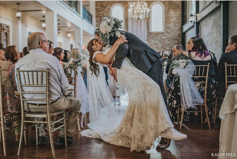Wedding kiss!