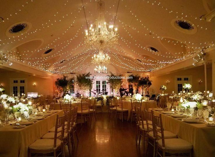 Warmly lit reception