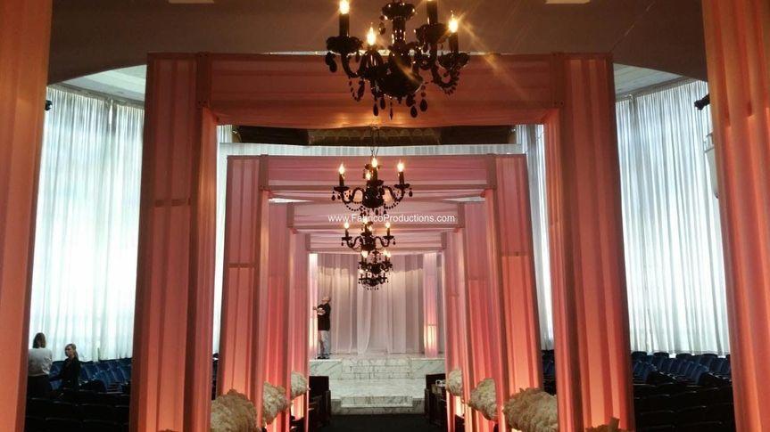 To the wedding venue