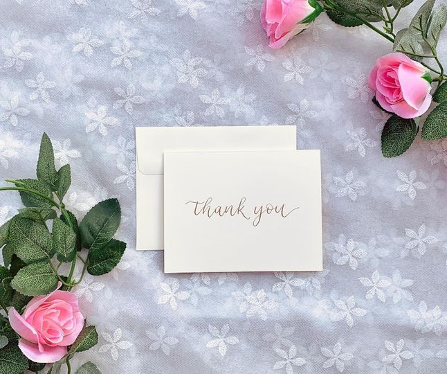 Calligraphy thank you notes