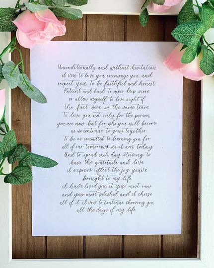 Delicate calligraphy