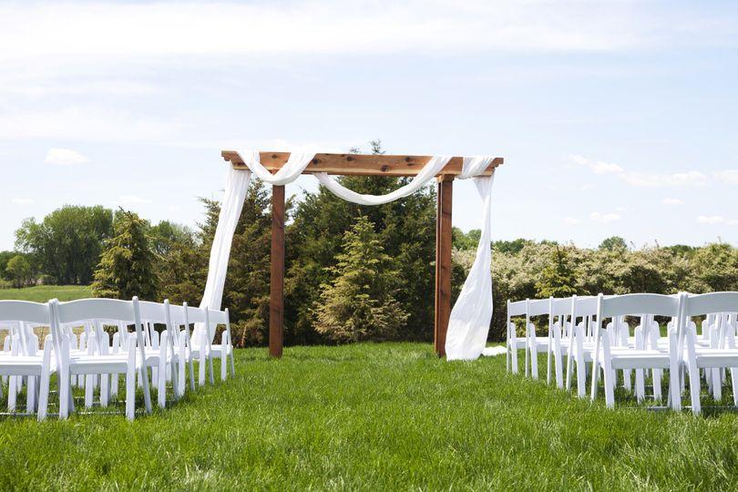 Outside wedding site