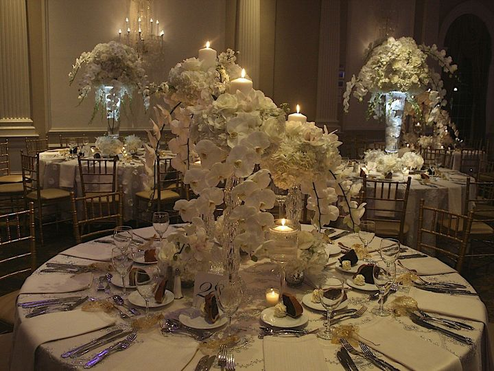 Tmx 1422399070660 Centerpiece W Illumination In Back Northvale, New Jersey wedding florist