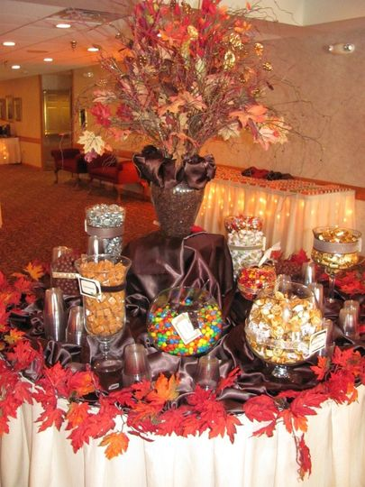 autumn candy table