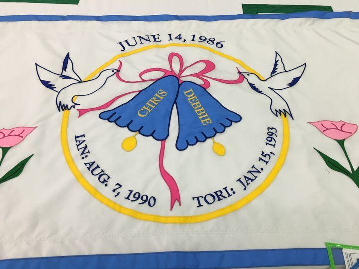 Happy anniversary flag