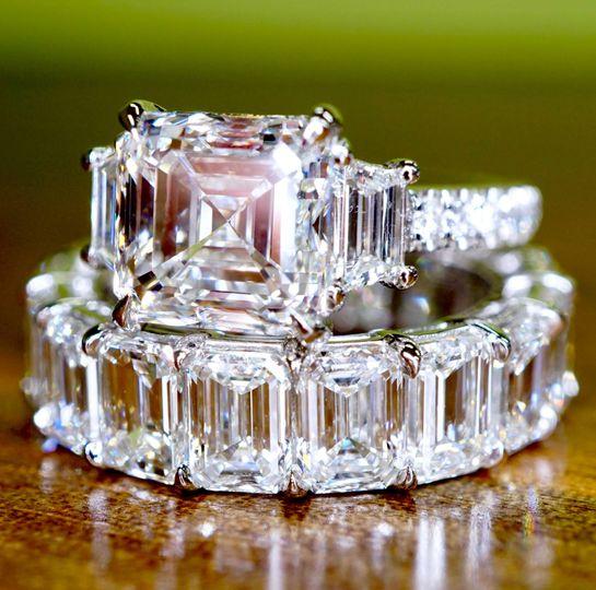 Asscher ring set