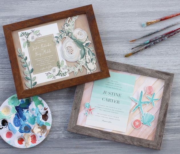 Send me your invitation or other memento and I will create a one of a kind framed keepsake designed...